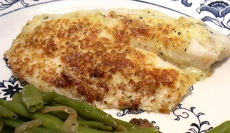 BROILED TILAPIA PARMESAN - Linda's Low Carb Menus & Recipes