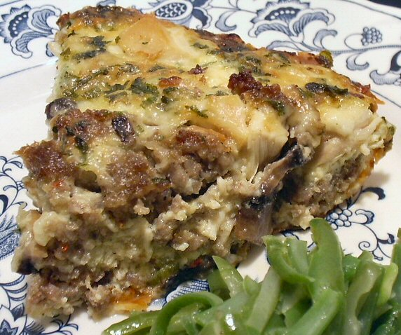 Chicken and stuffing quiche linda 39 s low carb menus recipes for Atkins quick cuisine bake mix