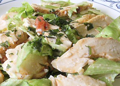FIESTA RANCH CHICKEN SALAD - Linda's Low Carb Menus & Recipes