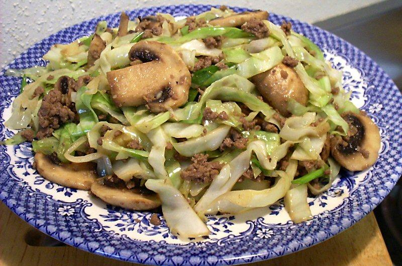 Stir-fry pork and cabbage recipes