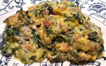 Mexican Spinach Amp Sausage Casserole Linda S Low Carb Menus Amp Recipes