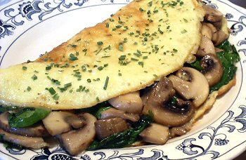 Pics Photos - Omelette With Mushrooms Spinach Fresh Feta Cheese And ...
