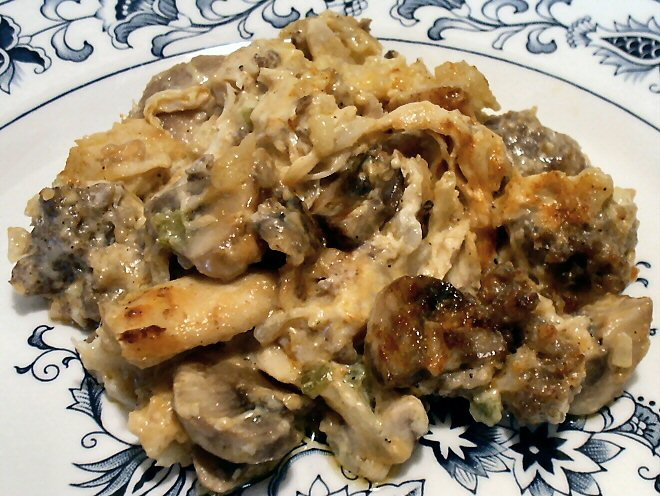 mushroom chicken and sausage casserole i m making the spaghetti