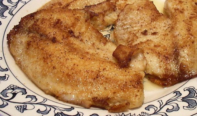 Pan fried tilapia linda 39 s low carb menus recipes for Fried fish calories