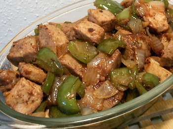 PORK & BELL PEPPER STIR-FRY WITH RASPBERRY CHIPOTLE SAUCE - Linda's ...