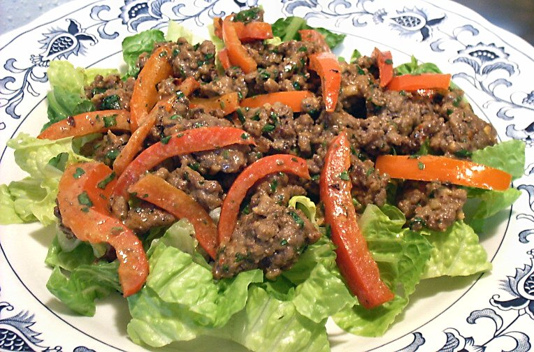 recipe: ginger ground beef [38]