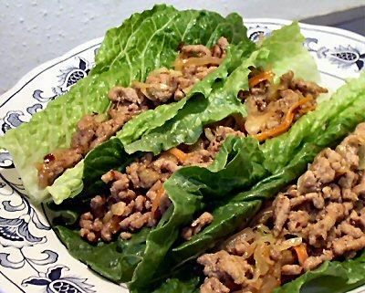 THAI PORK LETTUCE WRAPS - Linda's Low Carb Menus & Recipes