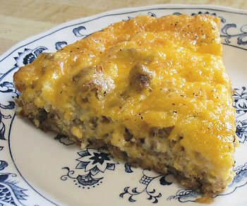 white castle hamburger pie 1 pound ground beef 1 packet onion soup mix ...